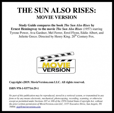 The Sun Also Rises: Movie Version 2